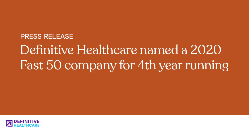 Definitive Healthcare Named a 2020 Fast 50 Company for 4th Year Running