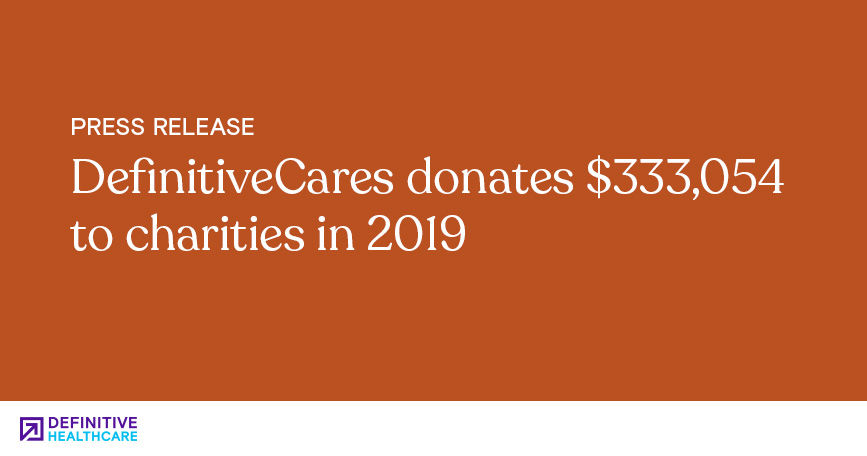 DefinitiveCares Donates $333,054 to Charities in 2019