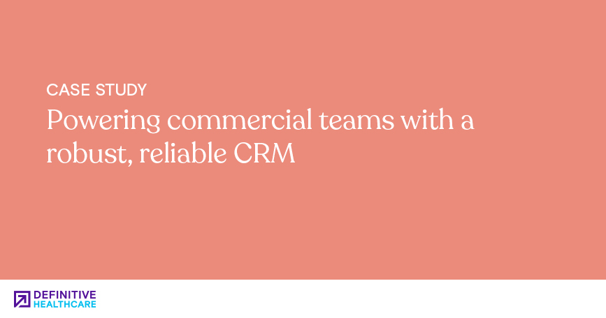 Powering commercial teams with a robust reliable CRM