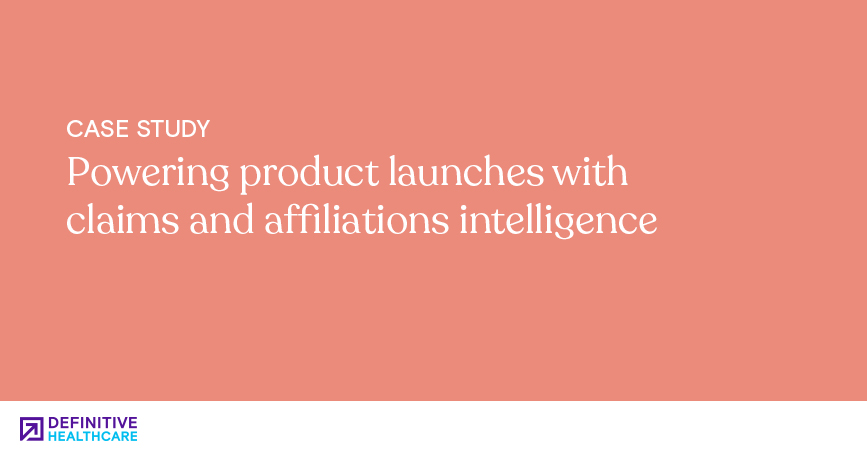 Powering product launches with claims and affiliations intelligence