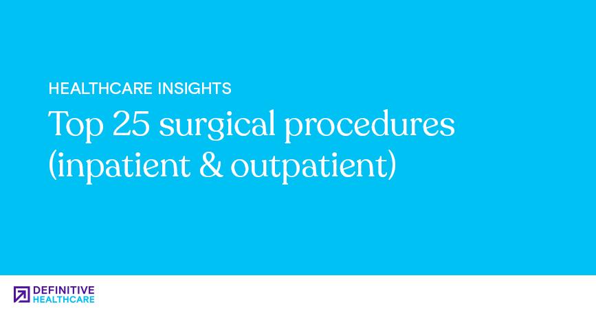 Top 25 surgical procedures