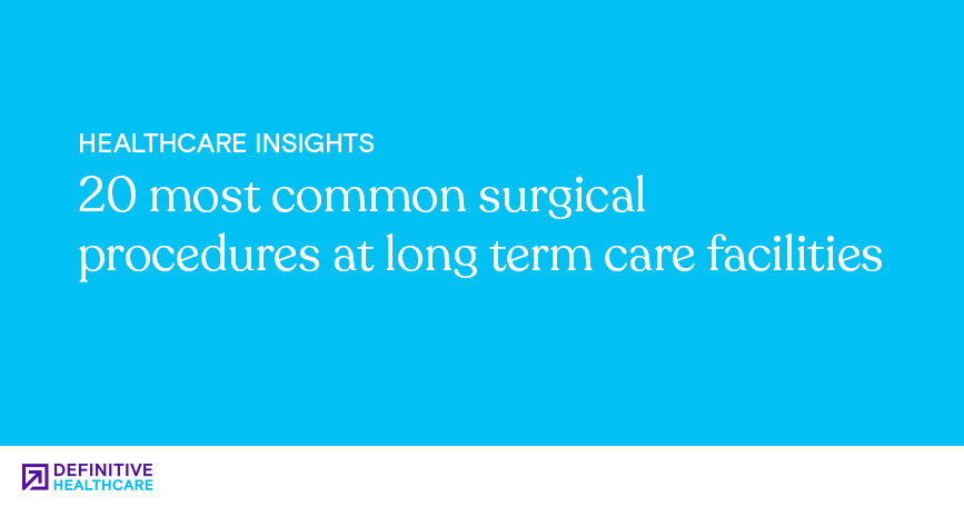 20 Most Common Surgical Procedures at Long Term Care Facilities