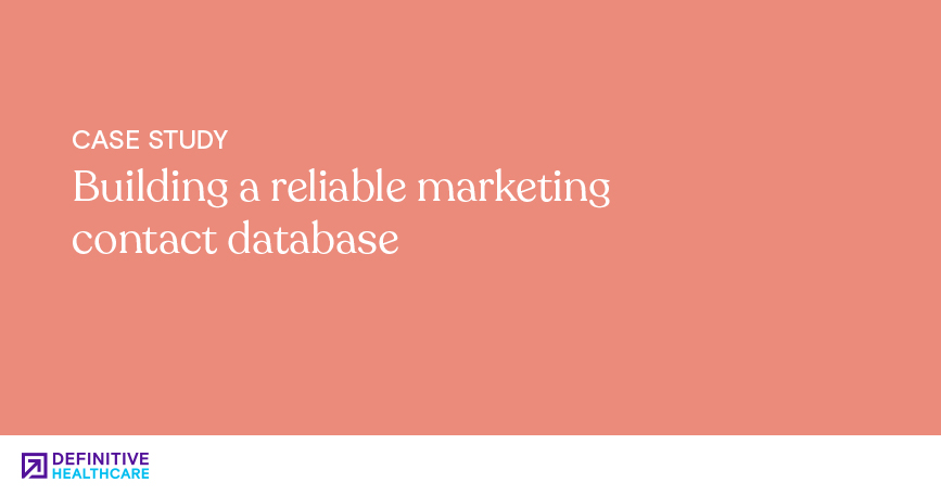 Building a reliable marketing contact database