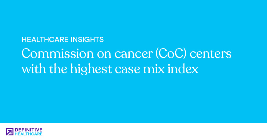 Commission on Cancer (CoC) Centers with the Highest Case Mix Index