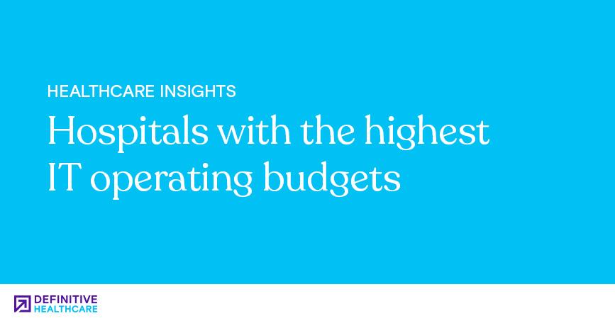 Hospitals with the Highest IT Operating Budgets