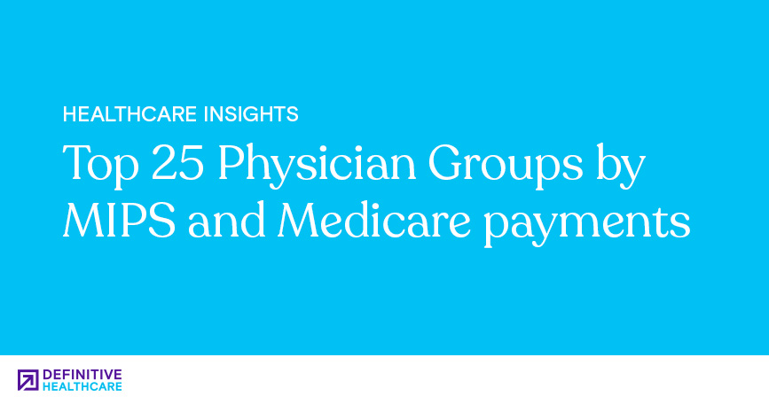 Top 25 Physician Groups by MIPS and Medicare Payments