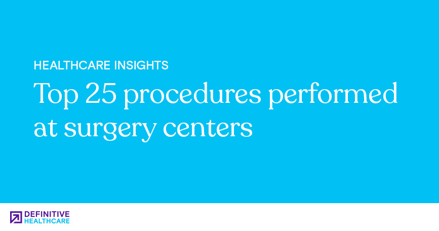 Top 25 Procedures Performed at Surgery Centers
