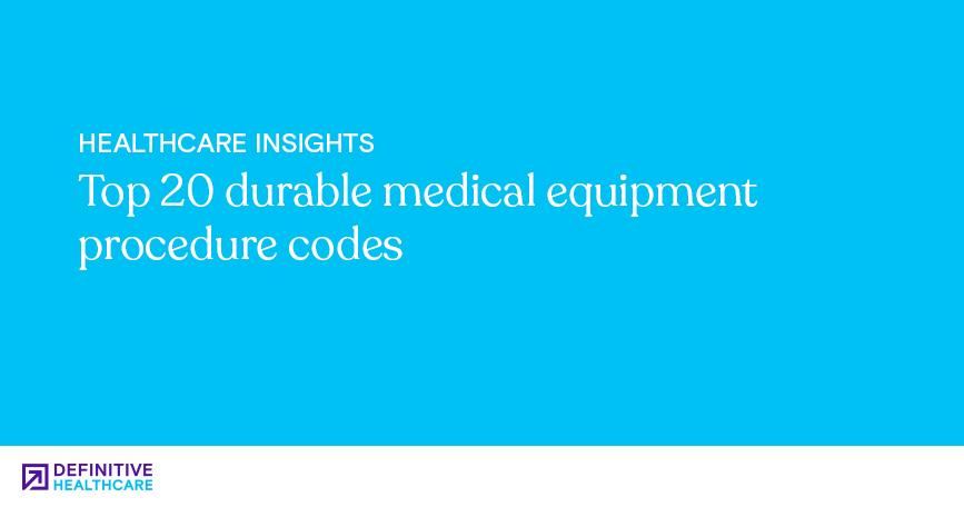 Healthcare Insights-Top 20 durable medical equipment procedure codes